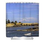 Brooks Point With Mt. Baker Shower Curtain
