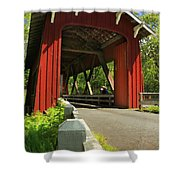 Brookwood Covered Bridge Shower Curtain