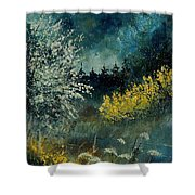 Brooms Shrubs Shower Curtain