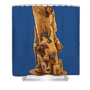 Brother 2, Carved Out Of A Dead Tree By Scott Alan Malinsky In Twin Lakes, Colorado  Shower Curtain