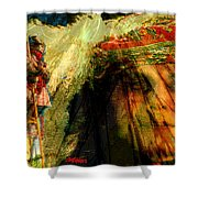 Brother Wind Shower Curtain