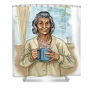 Brother Wolf - Grandmother Issi Shower Curtain