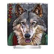 Brother Wolf Shower Curtain