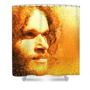 Brotherius V1 - Digital Person Shower Curtain