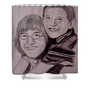 Brothers For Life Shower Curtain