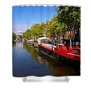 Brouwersgracht Canal In Amsterdam. Netherlands. Europe Shower Curtain