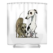 Brown 7-1512 Shower Curtain