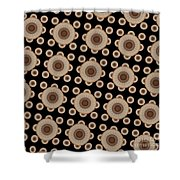 Brown And Black Mandala Pattren Shower Curtain