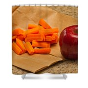 Brown Bag Lunch Shower Curtain