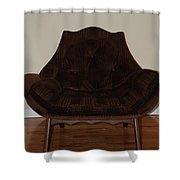 Brown Chair Shower Curtain