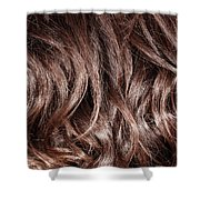 Brown Curly Hair Background Shower Curtain