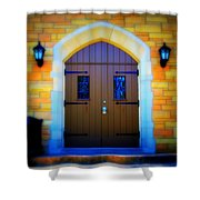 Brown Doors Shower Curtain