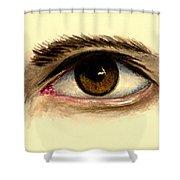 Brown Eye Shower Curtain