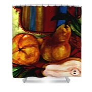 Brown Golden Pears Shower Curtain