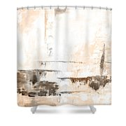 Brown Gray Abstract 12m4 Shower Curtain