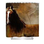 Brown Horse Pose Shower Curtain
