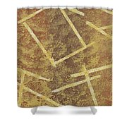 Brown Layers Shower Curtain