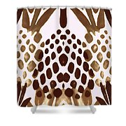 Brown Pineapple Shower Curtain