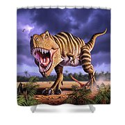 Brown Rex Shower Curtain
