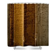 Brown Silos Shower Curtain