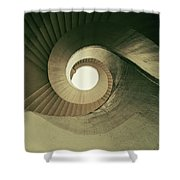 Brown Spiral Stairs Shower Curtain