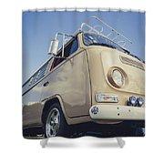 Brown Vw T2 Camper Van Shower Curtain
