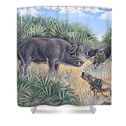 Brownie And Clyde Shower Curtain