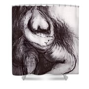 Brownies's Mother / Sitting Shower Curtain by Robert F Battles