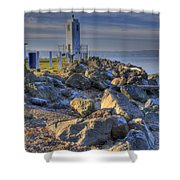 Browns Point Lighthouse Shower Curtain