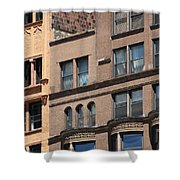 Brownstone Buildings In Chi Town Shower Curtain