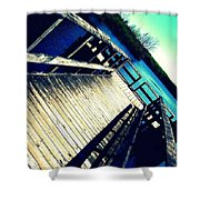 Brownstown Forestry Shower Curtain
