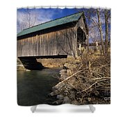 Brownsville Covered Bridge - Brownsville Vermont Shower Curtain