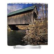 Brownsville Covered Bridge - Brownsville Vermont Shower Curtain