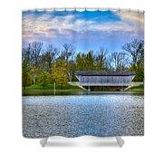 Brownsville Covered Bridge Shower Curtain