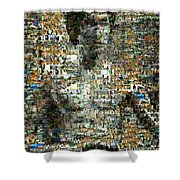 Bruce Lee Mosaic Shower Curtain