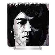 Bruce Lee Portrait Shower Curtain