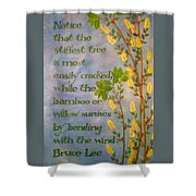 Bruce Lee, Willow Quote Shower Curtain