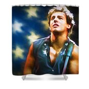 Bruce Springsteen Americana Shower Curtain
