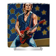 Bruce Springsteen The Boss Painting Shower Curtain