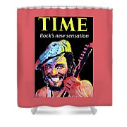 Bruce Springsteen Time Magazine Cover 1980s Shower Curtain
