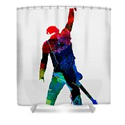 Bruce Watercolor Shower Curtain
