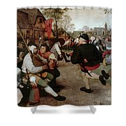 Bruegel, Peasant Dance Shower Curtain