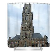 Bruges Belfry 1 Shower Curtain