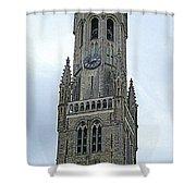 Bruges Belfry 2 Shower Curtain