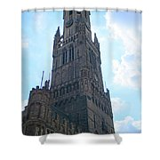 Bruges Belfry 5 Shower Curtain