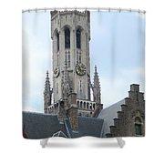 Bruges Belfry 6 Shower Curtain