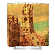 Bruges Belgium Belfry - Dwp2611371 Shower Curtain