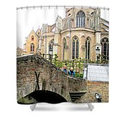 Bruges Bridge 3 Shower Curtain