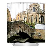 Bruges Bridge 4 Shower Curtain