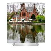 Bruges Kasteel Minnewater Shower Curtain